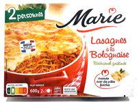 Lasagnes a la bolognaise, Bechamel Gratinee (600g) - Produit - fr