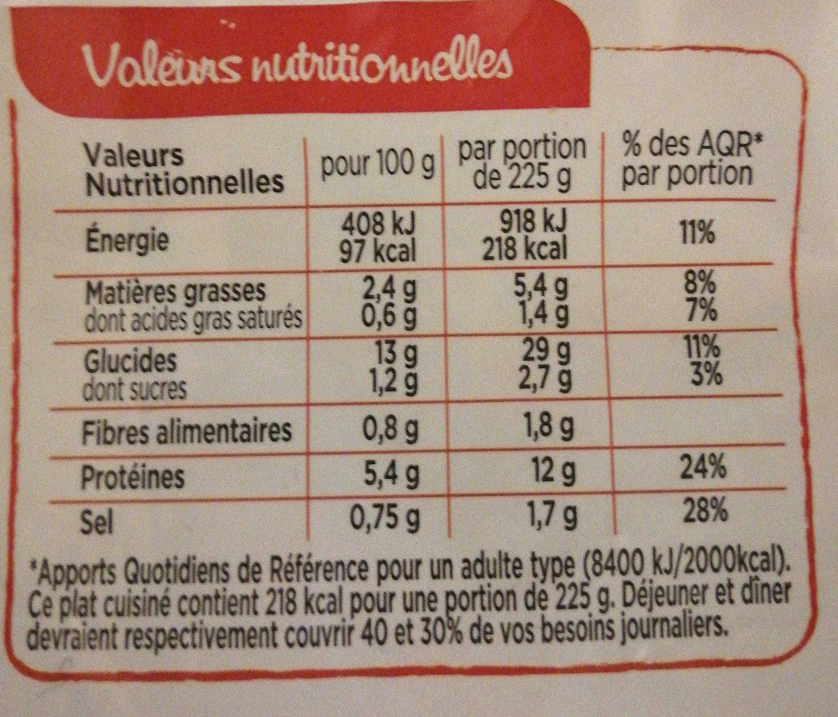 Paella Royale, petites Gambas et Safran - Informations nutritionnelles - fr