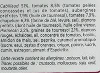 Les Croustillants Cabillaud Caviar d'Aubergines - Ingredients