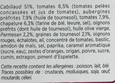 Les Croustillants Cabillaud Caviar d'Aubergines - Ingrédients