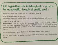 CroustiMoelleuse Originale Margherita - Ingrédients