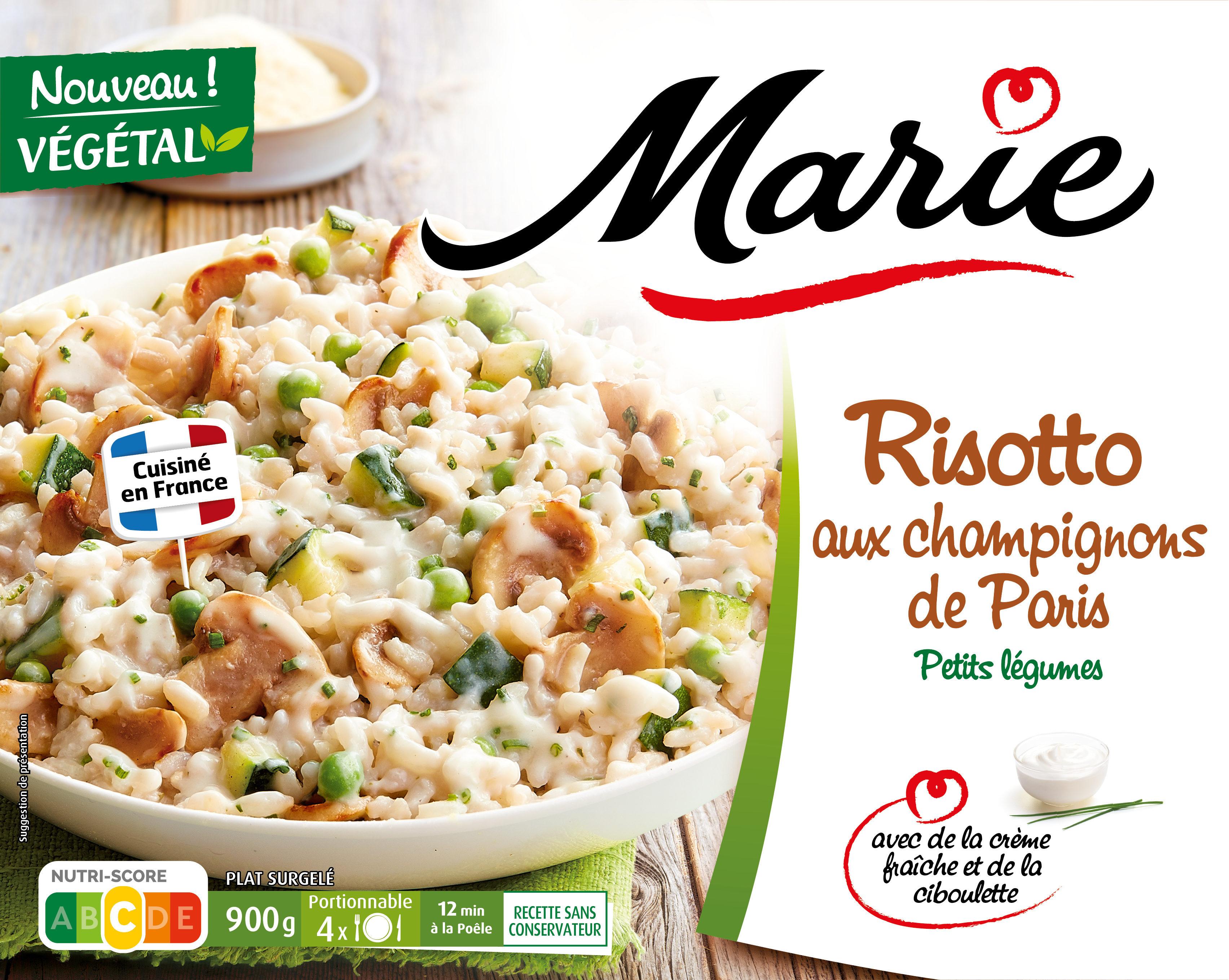 Risotto aux champignons de Paris, Petits légumes - Produit