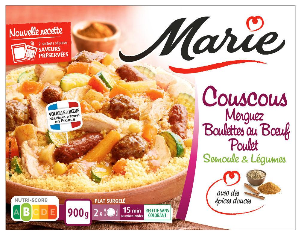 Couscous Merguez, Boulettes au Boeuf, Poulet - Produit
