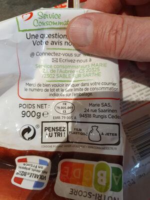 Couscous Poulet et Merguez Semoule et légumes - Recyclinginstructies en / of verpakkingsinformatie - fr