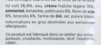 Risotto aux légumes verts - Ingrédients - fr