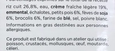 Risotto aux legumes verts - Ingredients - fr