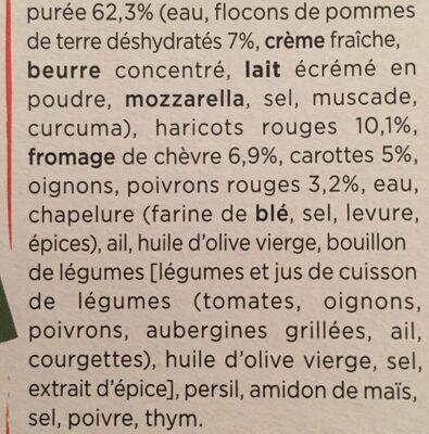Parmentier au chèvre et petits légumes - Ingrediënten