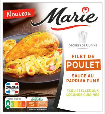 Filet de poulet, Sauce au paprika, Tagliatelles aux legumes cuisines - Product - fr