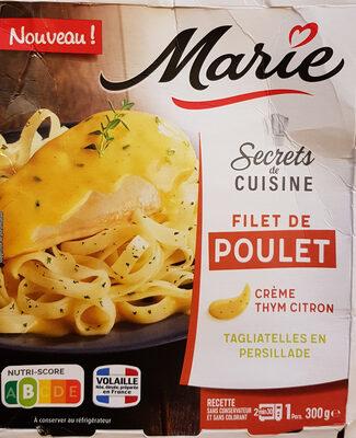 Filet de poulet, crème thym citron et tagliatelles en persillade - Product - fr