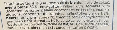 Merlu Blanc, Compotée a la provencal, Linguine au safran - Ingrediënten