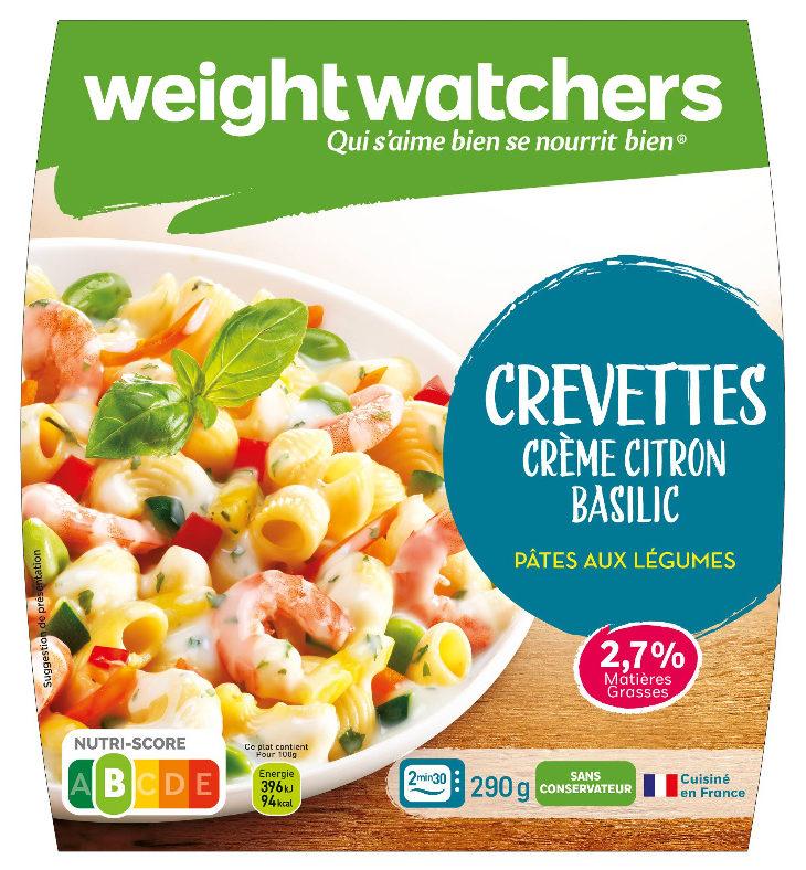 Crevettes, Crème Citron Basilic - Produit - fr