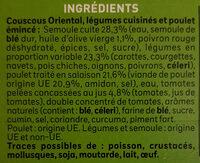 Couscous Oriental - Ingrédients - fr