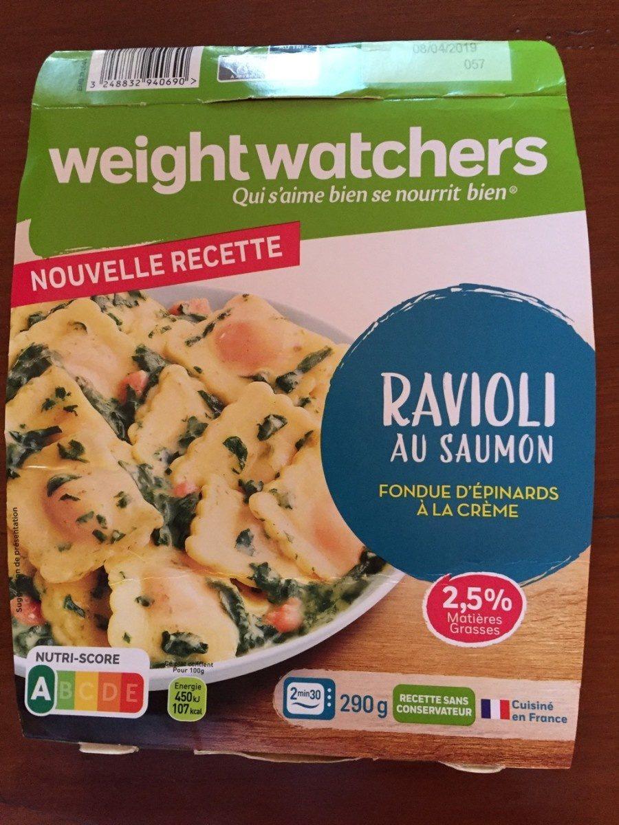 Ravioli au Saumon, Fondue d'épinards à la crème - Product - fr