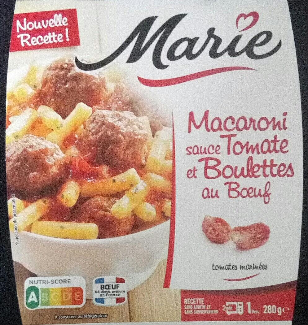 Macaroni sauce tomate et boulettes au bœuf - Product - fr