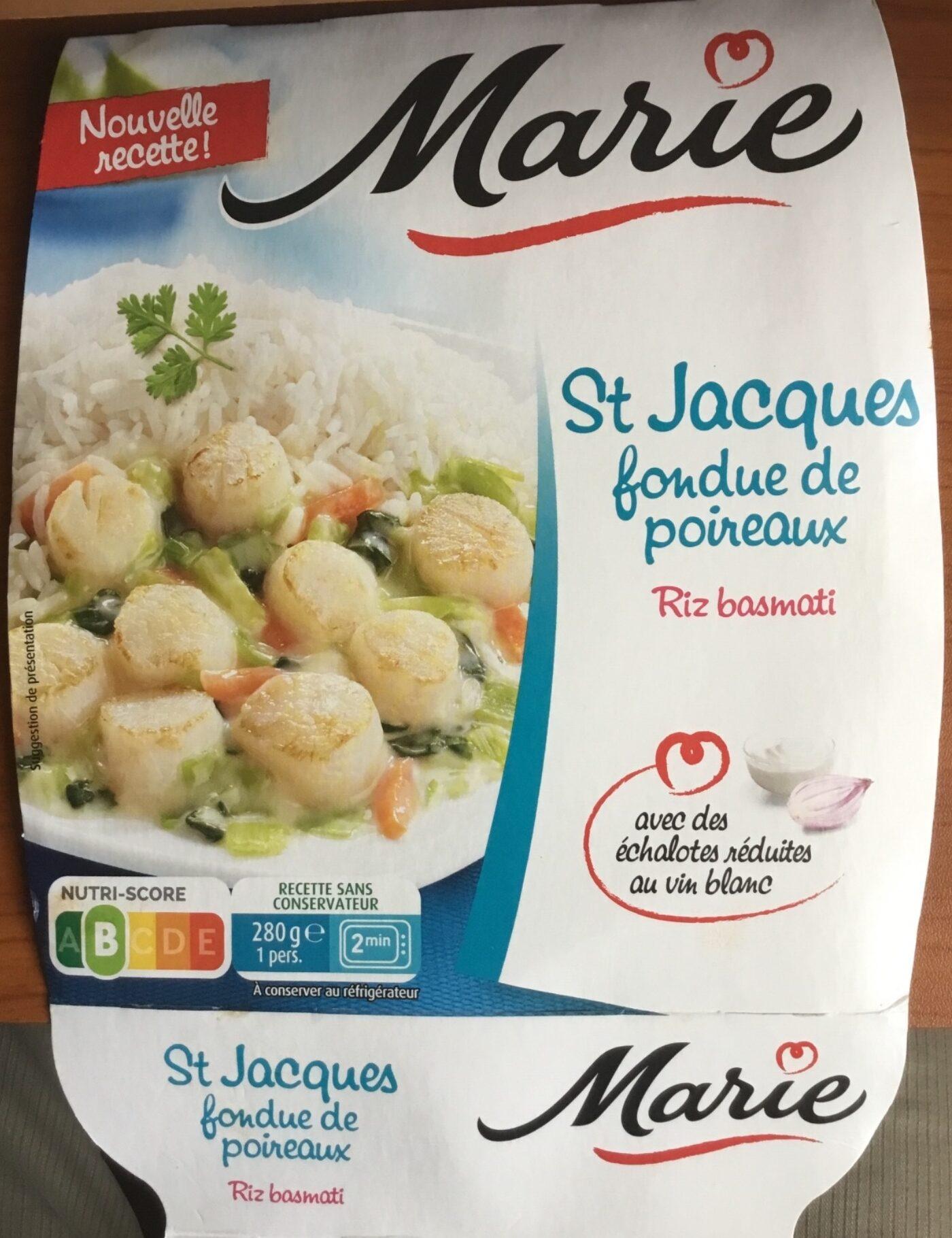 St Jacques fondue de poireaux & riz basmati - Prodotto - fr