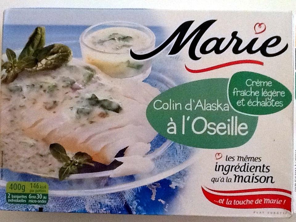 Colin d 39 alaska l 39 oseille surgel marie 400 g - Cuisiner du colin surgele ...