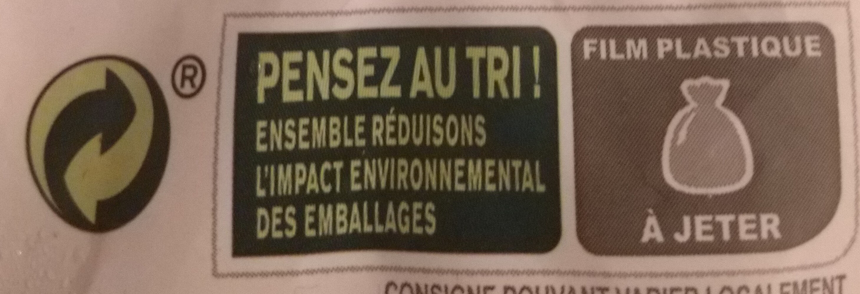 Poulet Rôti et Pommes de terre Fondantes - Istruzioni per il riciclaggio e/o informazioni sull'imballaggio - fr