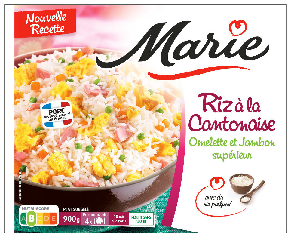 Riz à la cantonaise, Omelette et Jambon supérieur (900g) - Produit - fr