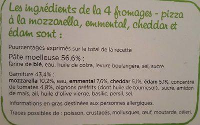 CroustiMoelleuse Originale 4 Fromages - Ingrédients