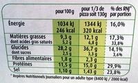 Marie Crousti Moelleuse originale 3 fromages - Voedigswaarden