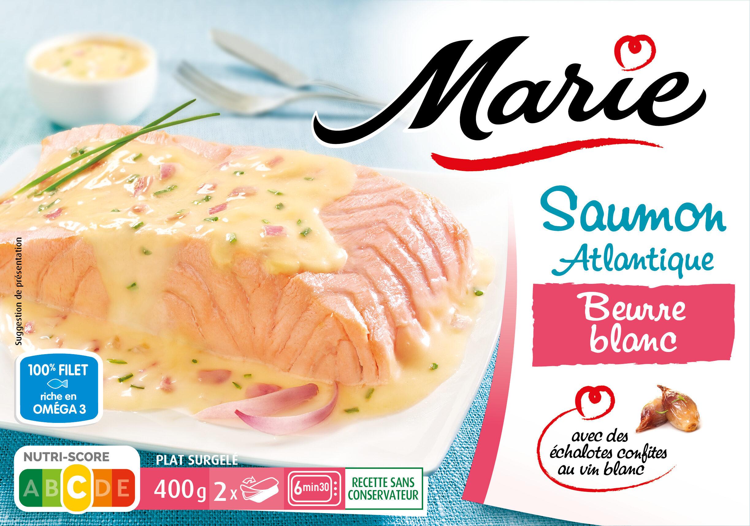 Saumon Atlantique Beurre blanc - Echalotes confites au vin blanc SALMO SALAR - Produit - fr
