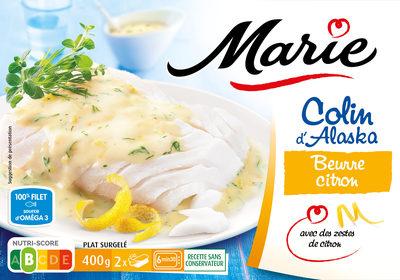 Colin d'alaska beurre citron - Zestes de citrons - Product - fr