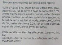Colin d'alaska beurre citron - Zestes de citrons - Ingredients - fr