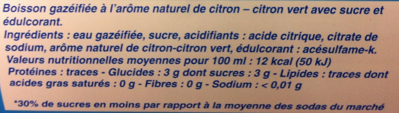 limon lime - Ingrédients - fr