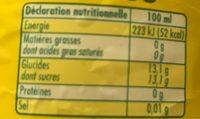 L'Ordinaire - Informations nutritionnelles - fr