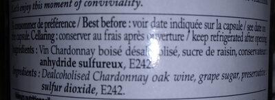 Chardonnay sans alcool - Ingredienti - fr