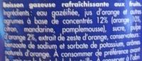 Orangina - Ingrediënten