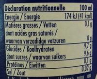 Orangina et sa pulpe. - Nutrition facts - fr