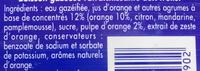 Orangina et sa pulpe - Inhaltsstoffe - fr