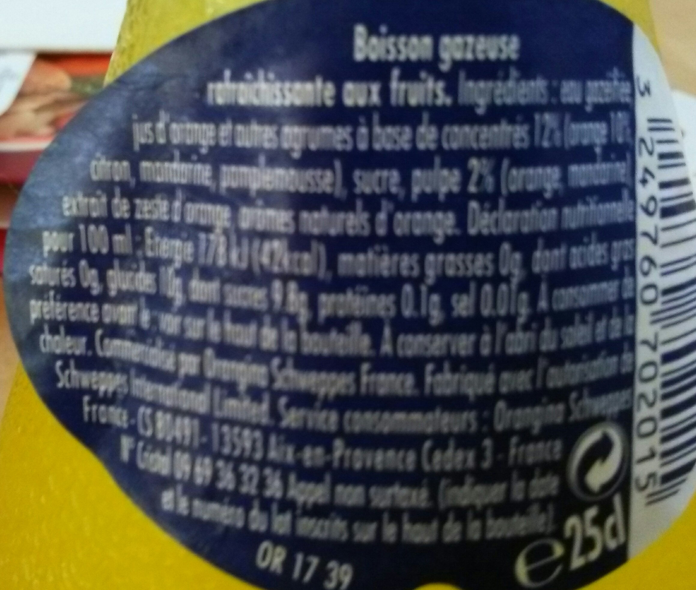 Orangina - Ingredienti - fr