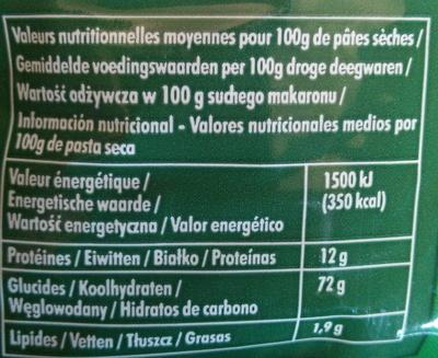 Torti 500 g - Voedigswaarden