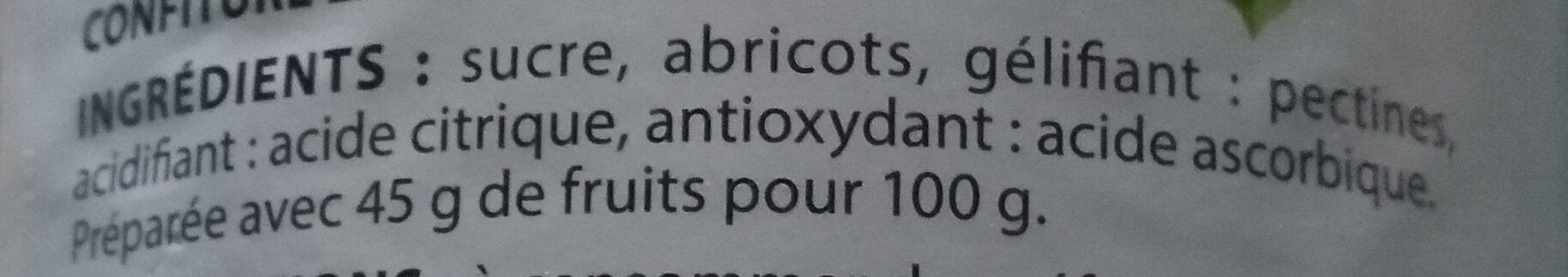 Confiture d'abricot - Ingredients - fr