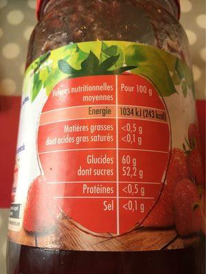 Fraise - Nutrition facts - fr
