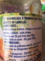 Marmelade Orange, Avec écorces Coupées En Lamelles - Ingredients - fr