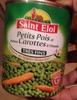 Petits pois et jeunes carottes à l'étuvée -