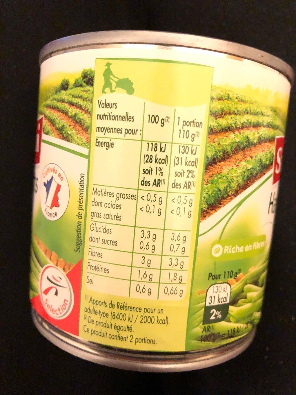 Haricots verts très fins - Voedigswaarden