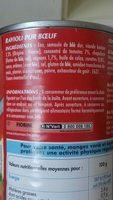 Ravioli pur boeuf - Ingrédients - fr