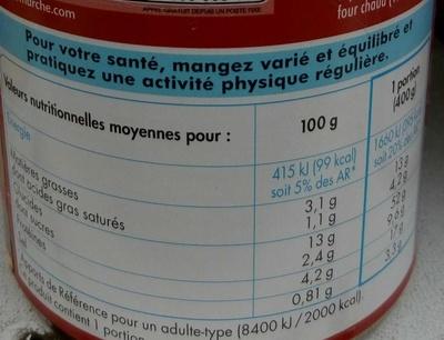 Ravioli pur boeuf - Informations nutritionnelles - fr