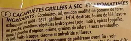 Cacahuètes grillées à sec - Ingrediënten - fr