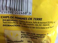 Les chips de pommes de terre - Ingredienti - fr