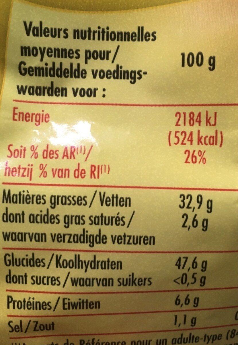Les chips de pommes de terre - Valori nutrizionali - fr