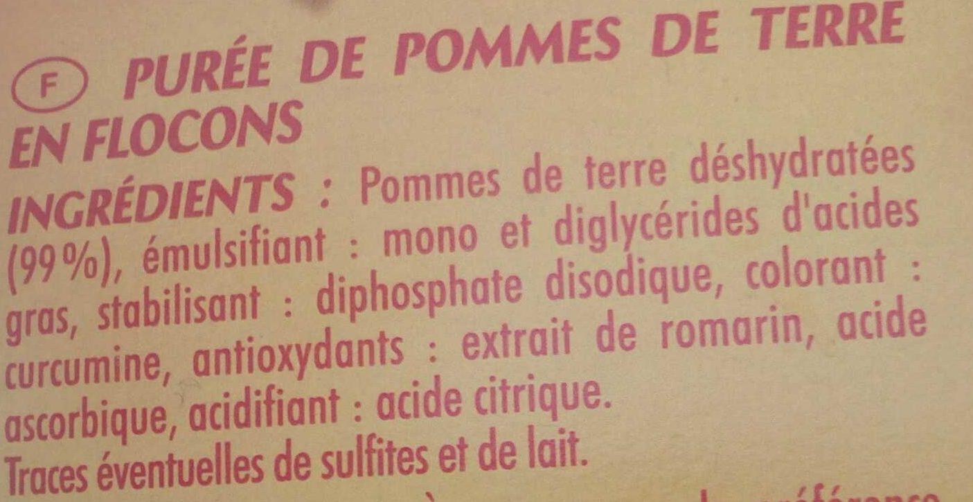 Purée Nature - Ingredients - fr