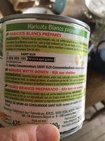 Haricots blancs préparés - Ingredients
