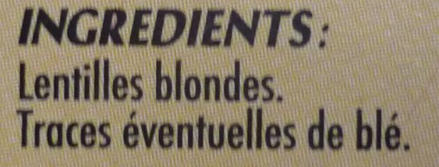 Lentilles blondes - Ingrédients - fr