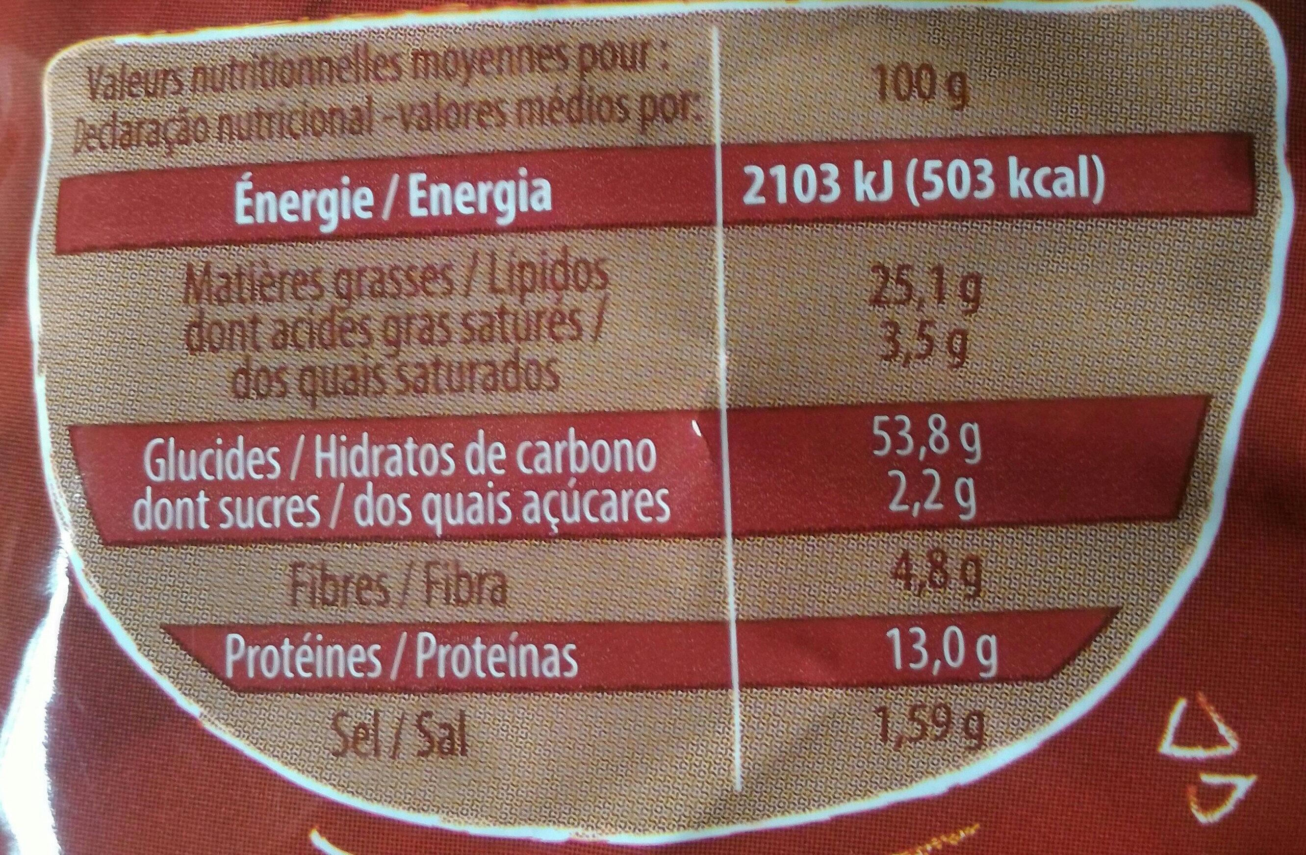 Cricfie's Cacahuète - Informations nutritionnelles