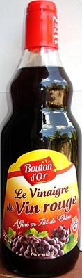 Vinaigre de Vin rouge Affiné en Fût de Chêne - 1 litre - Bouton d'Or - Product